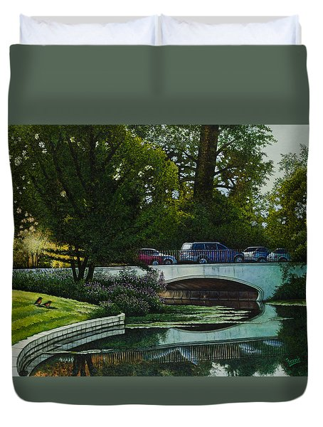 Bridges Of Forest Park V Duvet Cover
