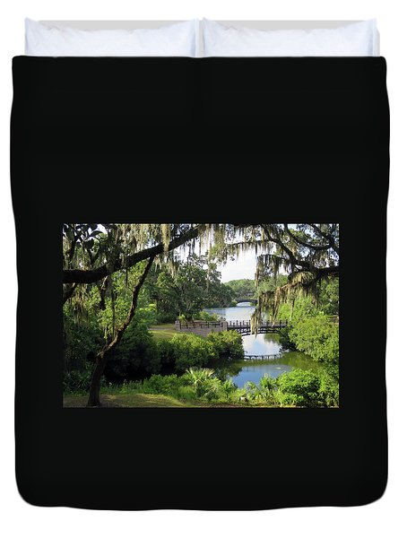 Bridges Over Tranquil Waters Duvet Cover
