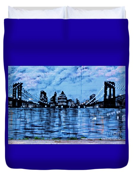 Bridges To New York Duvet Cover