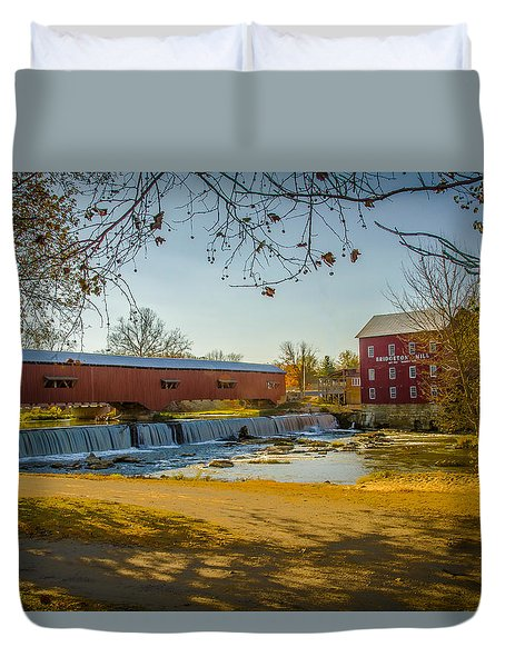 Bridgeton Mill Covered Bridge Duvet Cover