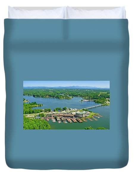 Bridgewater Plaza, Smith Mountain Lake, Virginia Duvet Cover