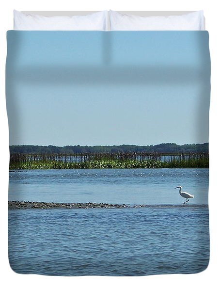 Duvet Cover featuring the photograph Bridging The Gap by Carol  Bradley