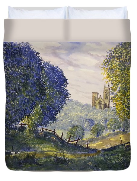 Bridlington Priory From Woldgate Duvet Cover