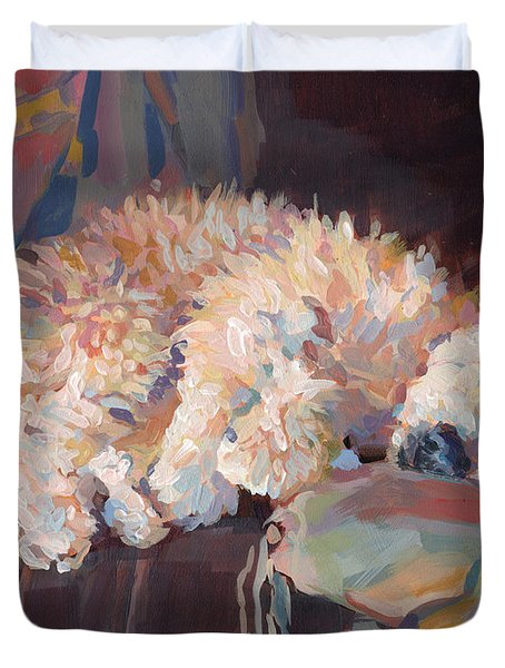 Brie As Odalisque Duvet Cover by Kimberly Santini