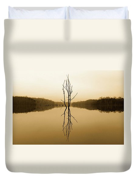 Duvet Cover featuring the photograph Briery Creek  by Alan Raasch