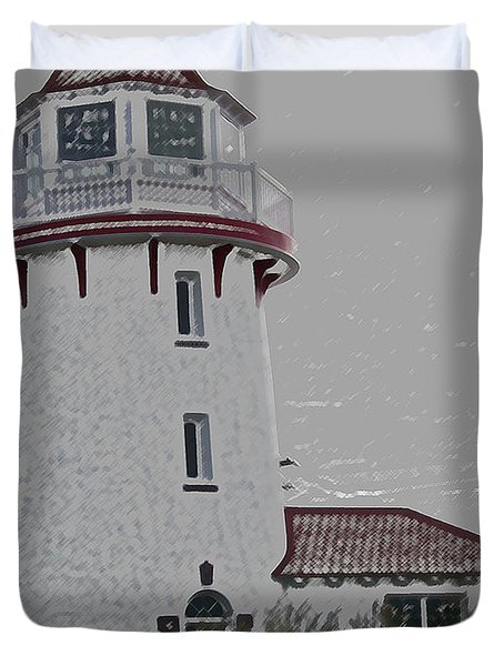 Brigantine Lighthouse Duvet Cover