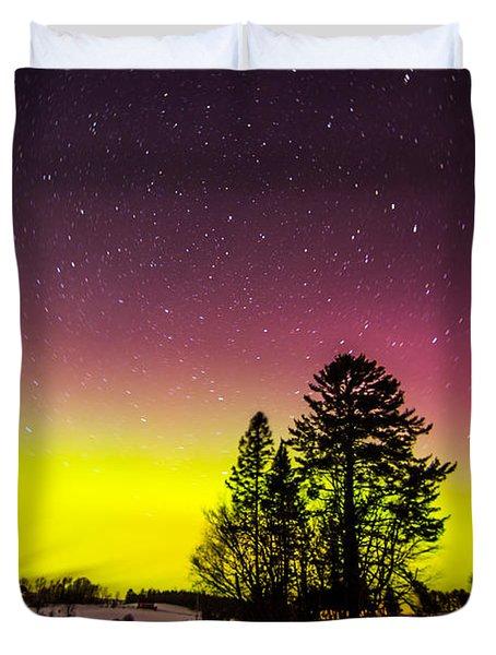 Bright Aurora Duvet Cover