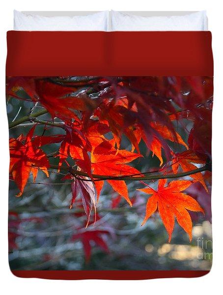 Bright Autumn Leaves Duvet Cover