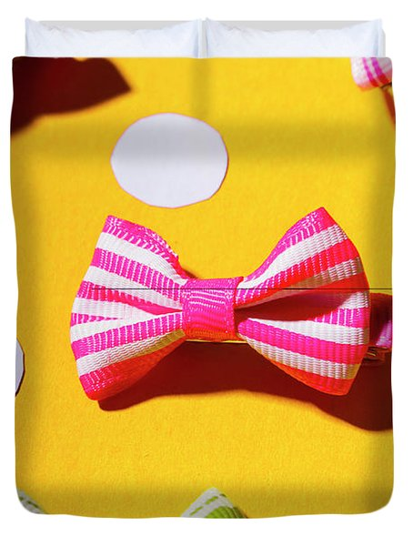 Bright Bow Tie Gallery Duvet Cover
