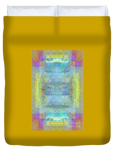 Duvet Cover featuring the digital art Bright Chalice Ancient Symbol Tapestry by Christopher Pringer