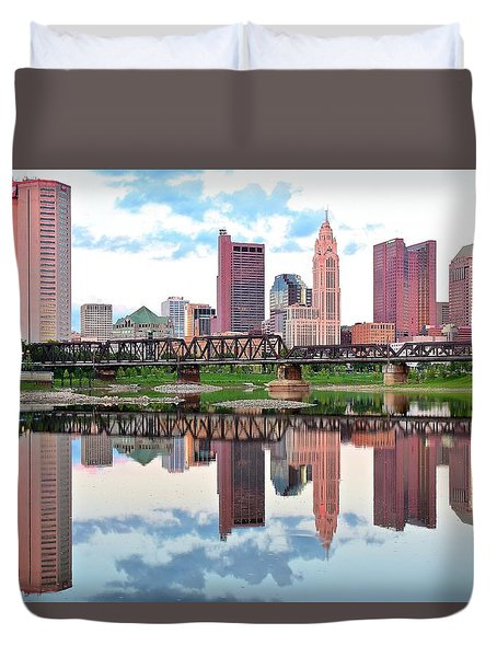 Bright Colorful Columbus Day Duvet Cover