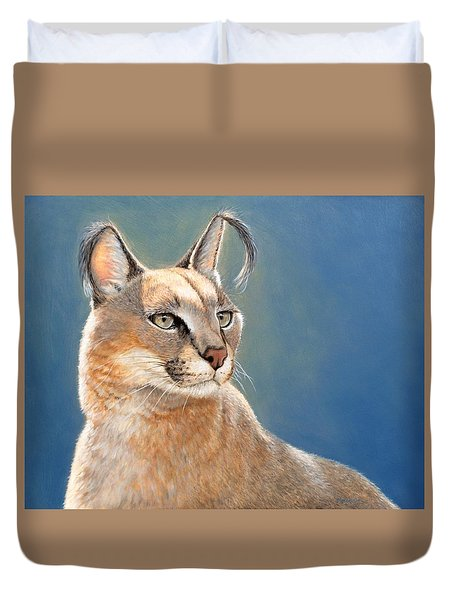 Bright Eyes - Caracal Duvet Cover