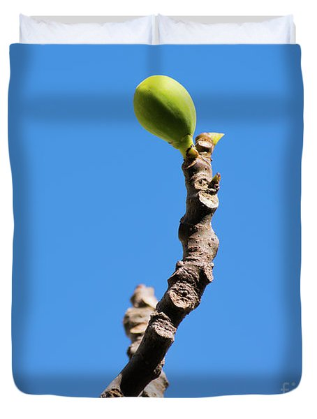 Bright Fig Against The Sky. Duvet Cover