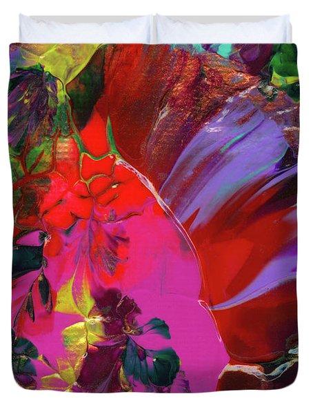 Bright Flaming Sun Flares Duvet Cover