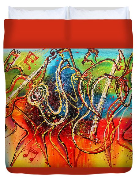Bright Jazz Duvet Cover