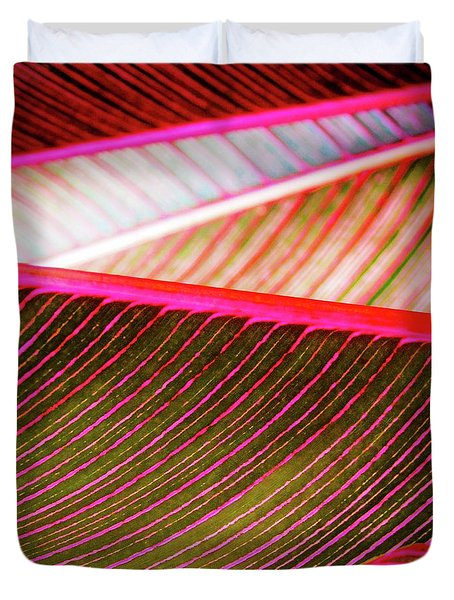 Duvet Cover featuring the photograph Bright Leaves 548 by D Davila