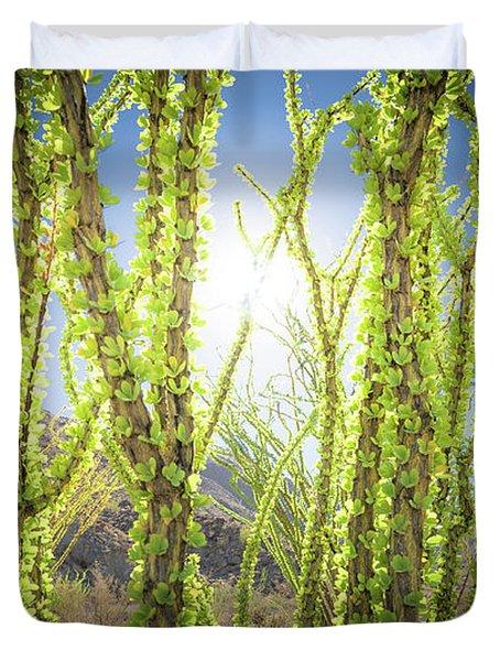 Bright Light In The Desert Duvet Cover