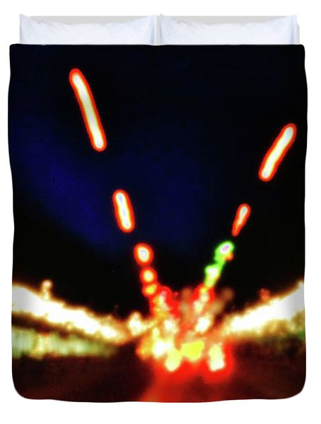 Duvet Cover featuring the photograph Bright Lights by Al Harden