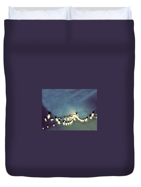 Duvet Cover featuring the photograph Bright Lights by Rebecca Cozart