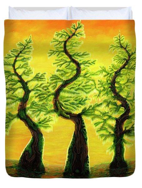 Bright Moss Hidden Bunnies Duvet Cover