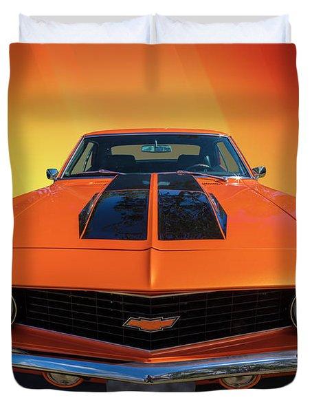 Bright Orange Duvet Cover