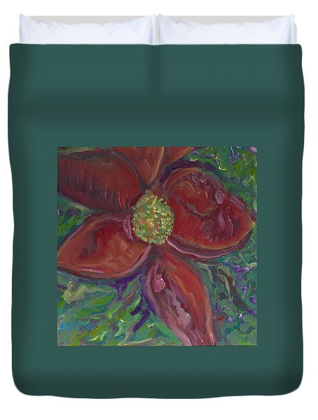 Bright Red Duvet Cover by John Keaton