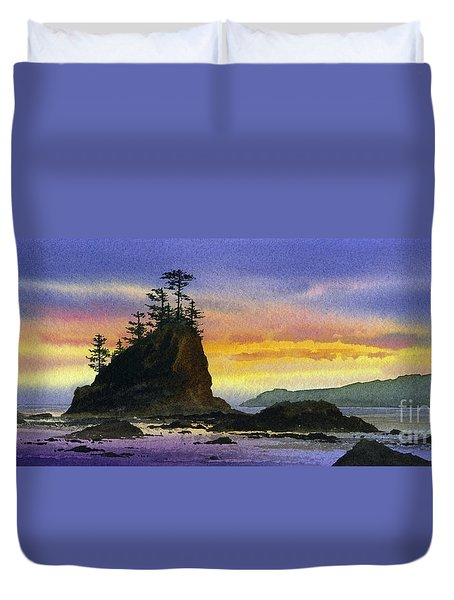 Bright Seacoast Sunset Duvet Cover by James Williamson