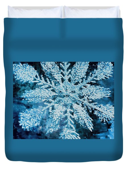 Bright Snowflake Duvet Cover