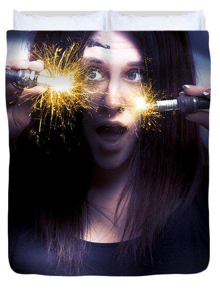 Bright Sparks Duvet Cover