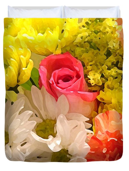 Bright Spring Flowers Duvet Cover