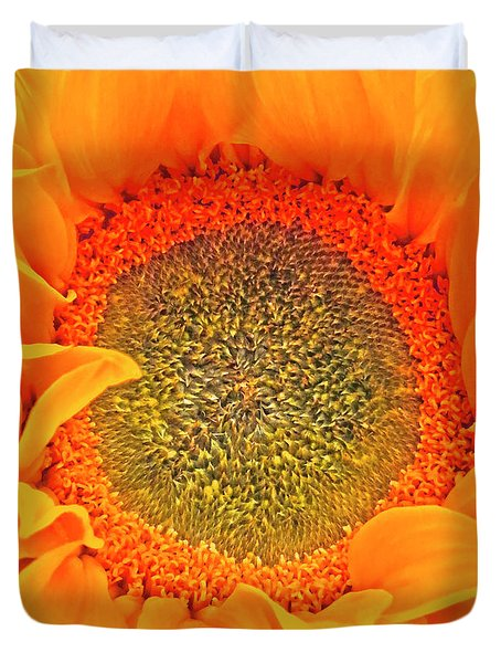 Bright Sunflower  Duvet Cover