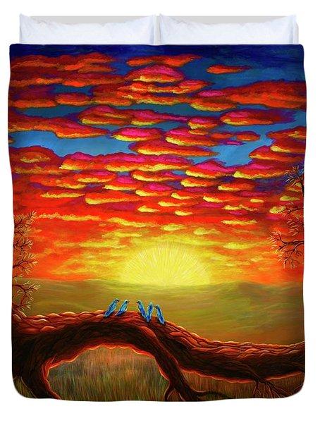 Bright Sunset Duvet Cover