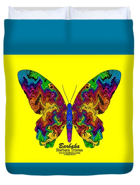 Duvet Cover featuring the digital art Bright Transformation by Barbara Tristan
