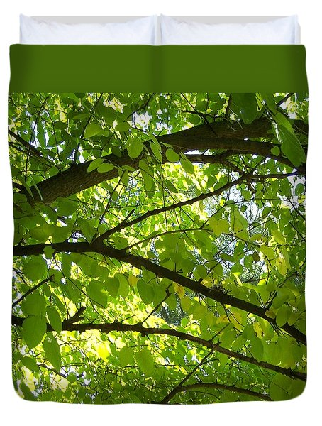 Bright Treetop  Duvet Cover
