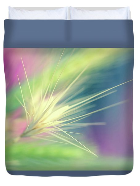 Bright Weed Duvet Cover by Terry Davis