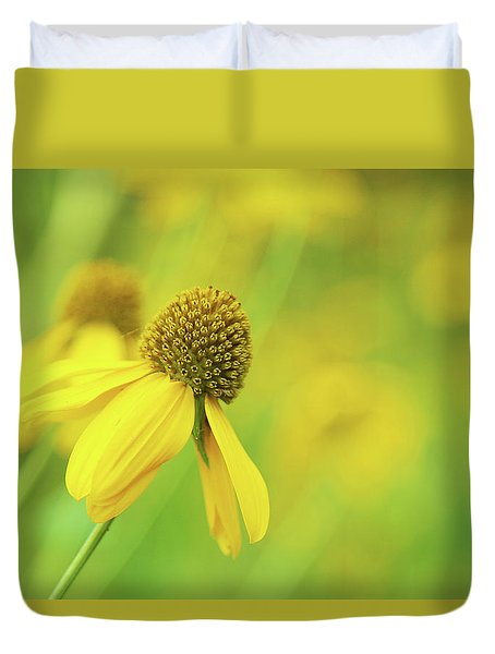 Bright Yellow Flower Duvet Cover