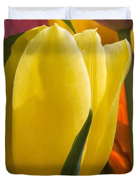 Bright Yellow Tulip Duvet Cover
