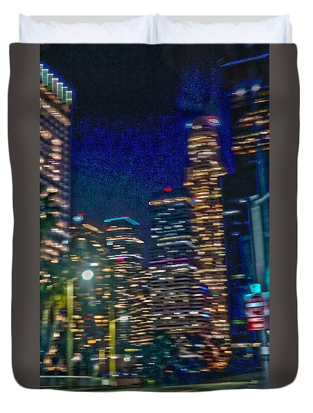 brighten up U'r life with a bit of color in your darkness Duvet Cover