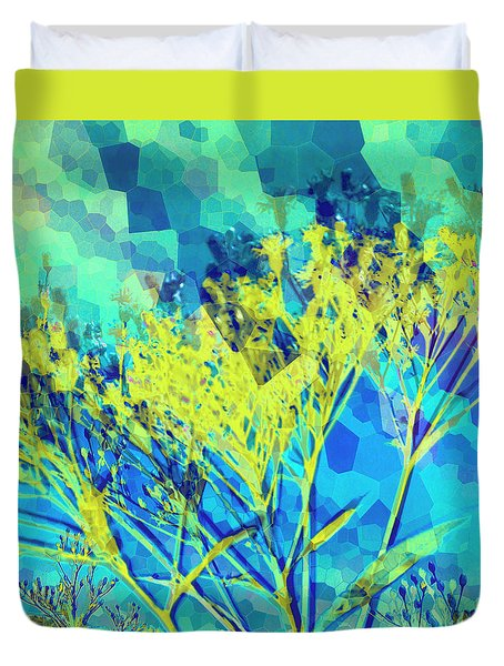 Duvet Cover featuring the digital art Brighter Day by Shawna Rowe