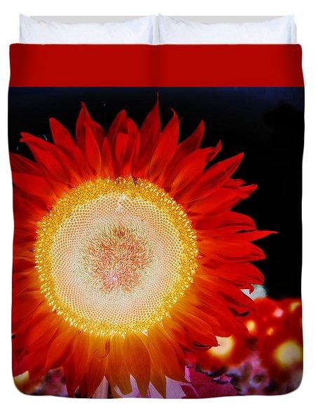 Brighter Than The Sun Flower Duvet Cover