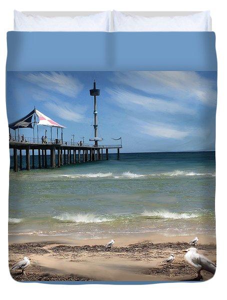 brighton Beach Duvet Cover by Anthony Christou