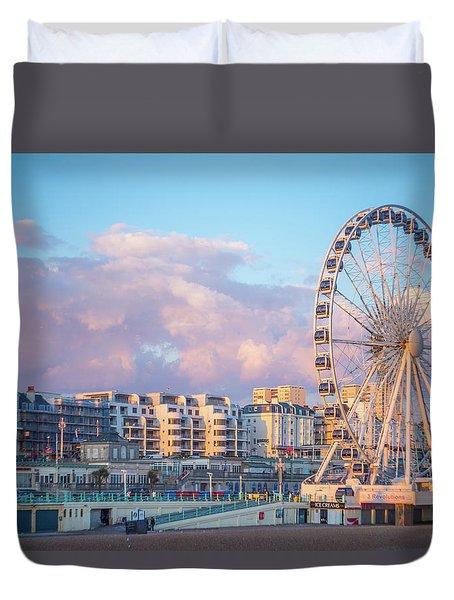 Brighton Ferris Wheel Duvet Cover