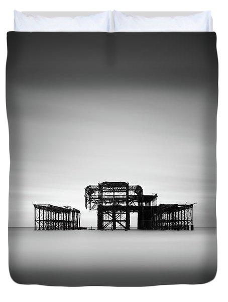 Brighton West Pier Duvet Cover