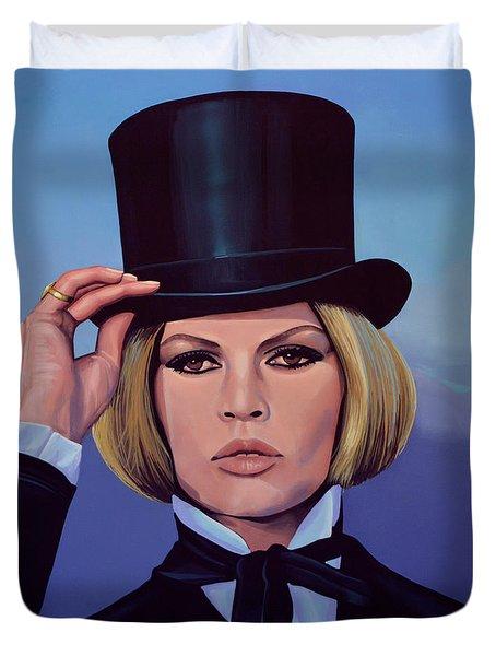Brigitte Bardot Painting 2 Duvet Cover