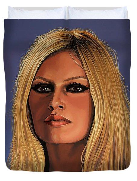 Brigitte Bardot Painting 3 Duvet Cover