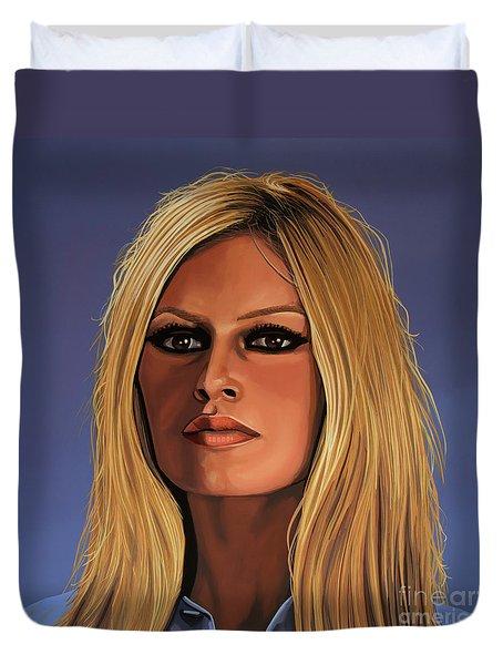 Brigitte Bardot 3 Duvet Cover by Paul Meijering
