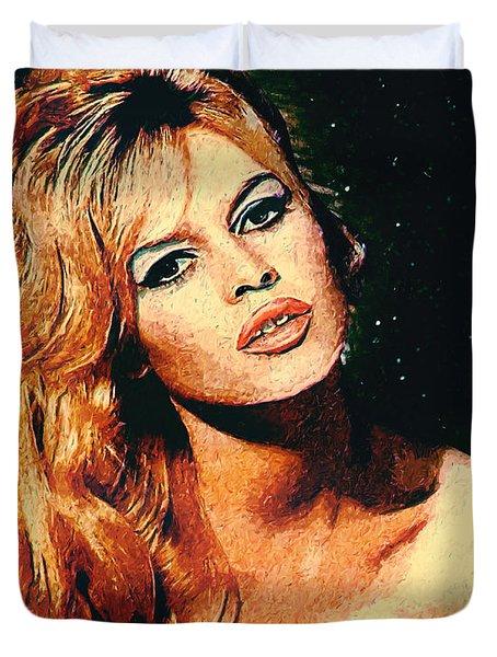 Brigitte Bardot Duvet Cover by Taylan Apukovska