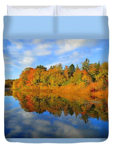 Brilliance Of Autumn Duvet Cover by Dianne Cowen