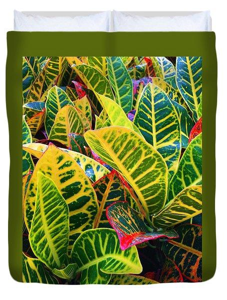 Brilliant Crotons Duvet Cover