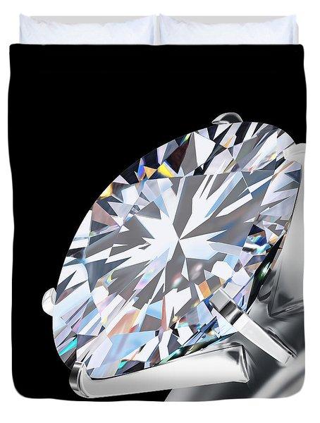 Brilliant Cut Diamond Duvet Cover by Setsiri Silapasuwanchai